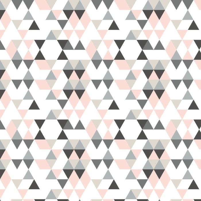 Papier peint lavable sur mesure Motif abstrait géométrique avec des triangles dans des couleurs rétro en sourdine. - Ressources graphiques