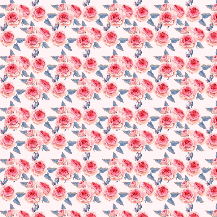 English roses seamless Washable custom-made wallpaper - Plants and Flowers