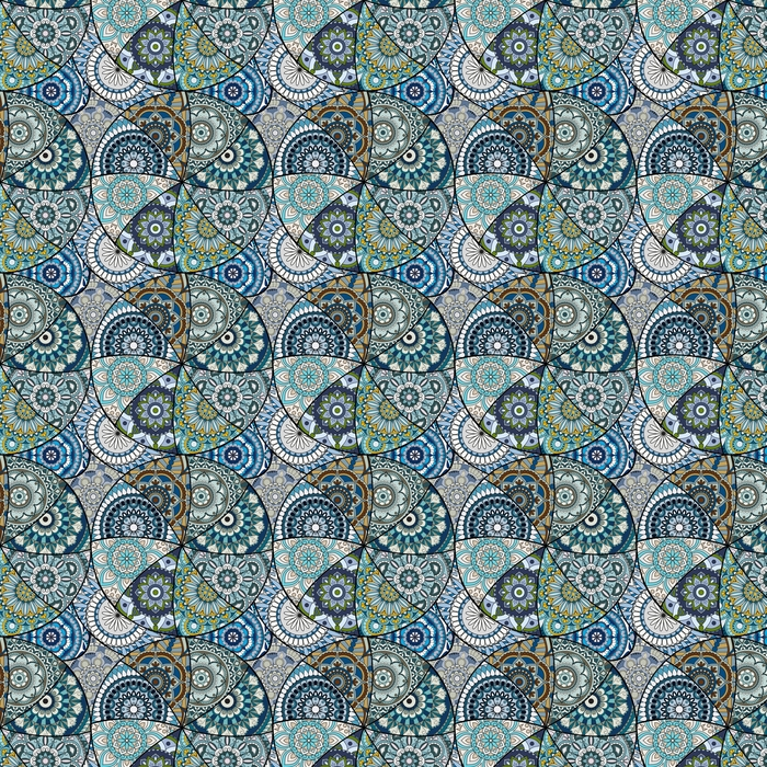Seamless pattern tile with mandalas. Vintage decorative elements. Hand drawn background. Islam, Arabic, Indian, ottoman motifs. Perfect for printing on fabric or paper. Washable custom-made wallpaper - Graphic Resources