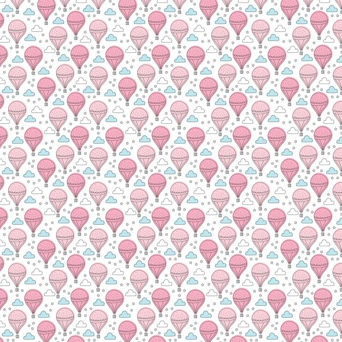 Bezszwowe powietrze balony wzór ilustracji wektorowych