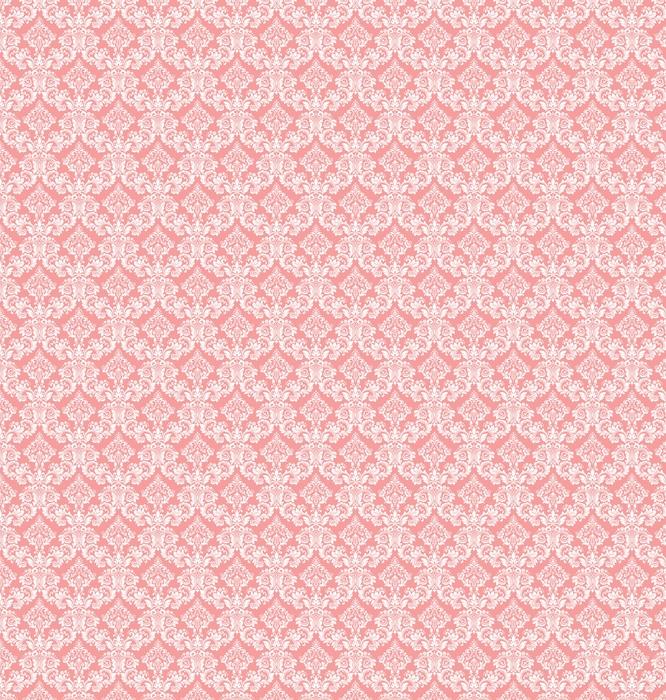 Tapeta w stylu barokowym. bezszwowe tło wektor. biały i różowy kwiatowy ornament. graficzny wzór tkaniny, tapety, opakowania. ozdobny kwiat adamaszku