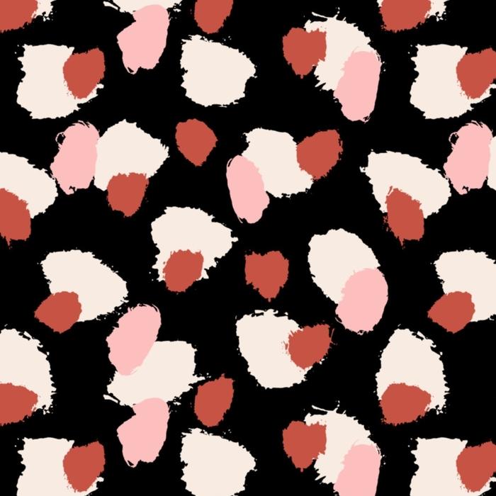 Afwasbaar behang, op maat gemaakt Hand getrokken penseel streken naadloze patroon - Grafische Bronnen