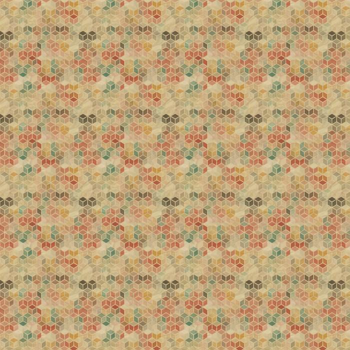 Problemfri retro geometrisk mønster. Personlige vaskbare tapet -