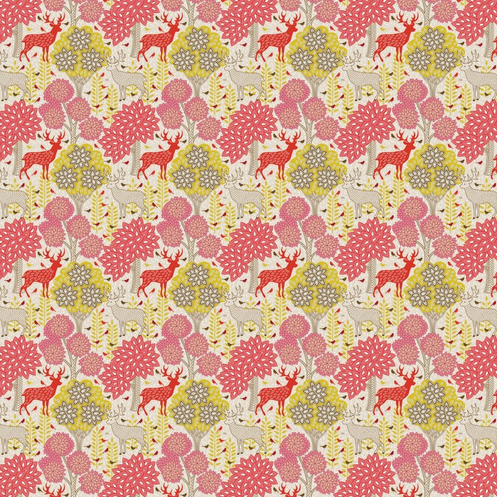 Autumn forest seamless pattern Washable custom-made wallpaper - Themes