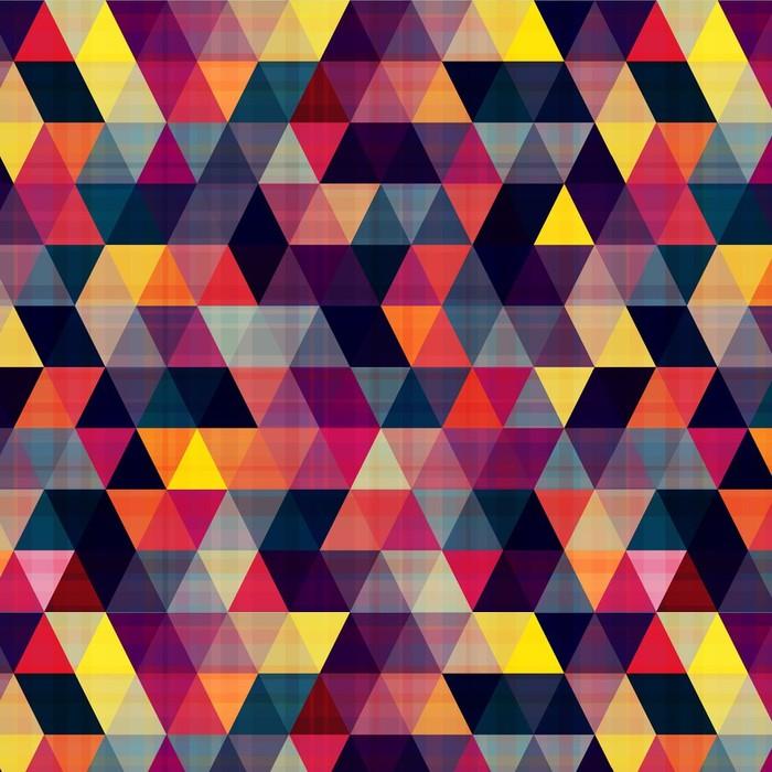 Afwasbaar behang, op maat gemaakt Naadloze driehoek achtergrond - Geometrie
