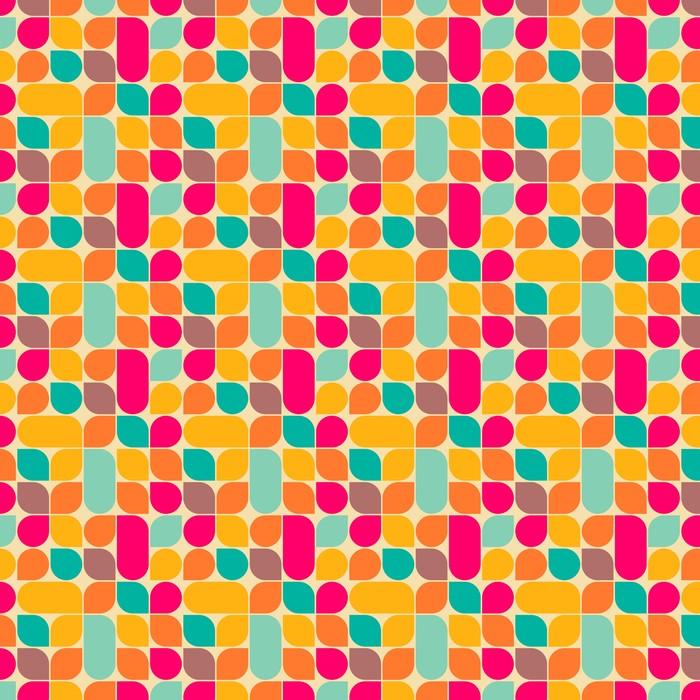 Patrón abstracto sin fisuras Retro