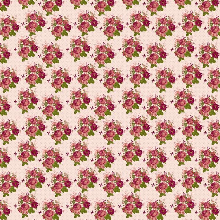 Rocznika bezszwowe tło z motylami Roses