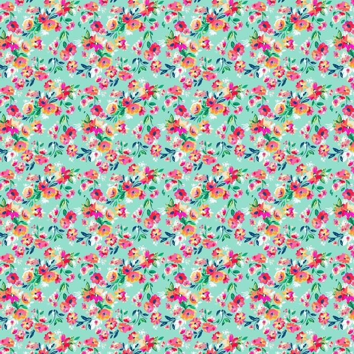 Całkiem malowane kwiaty ~ bezszwowe tło