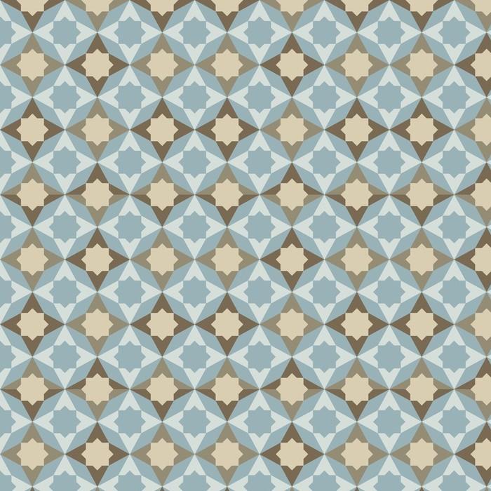 Afwasbaar behang, op maat gemaakt Abstract retro geometrisch patroon - Achtergrond