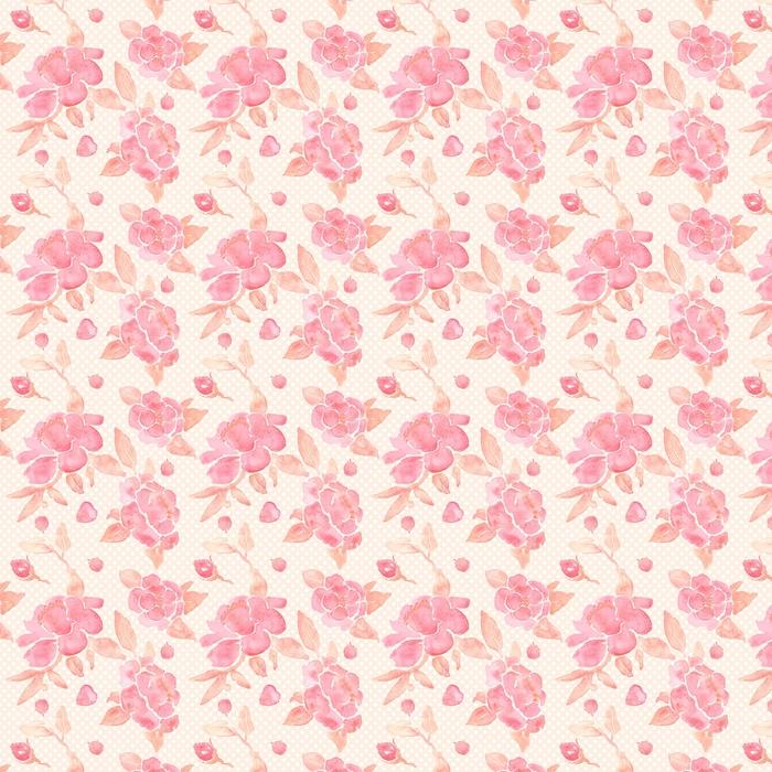 Papel tapiz transparente acuarela con flores de peonía en el vector.