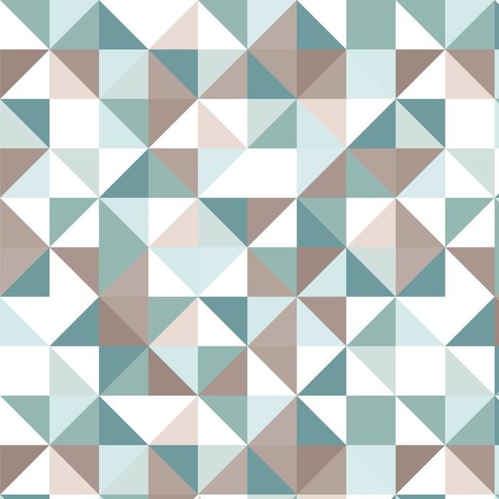Afwasbaar behang, op maat gemaakt Driehoek naadloze patroon - Thema's