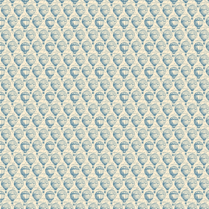 seamless background with balloons Washable custom-made wallpaper - Transport