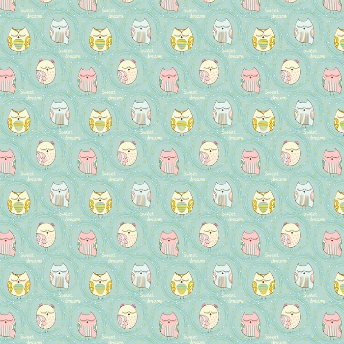 Sleeping owl Washable custom-made wallpaper - Animals