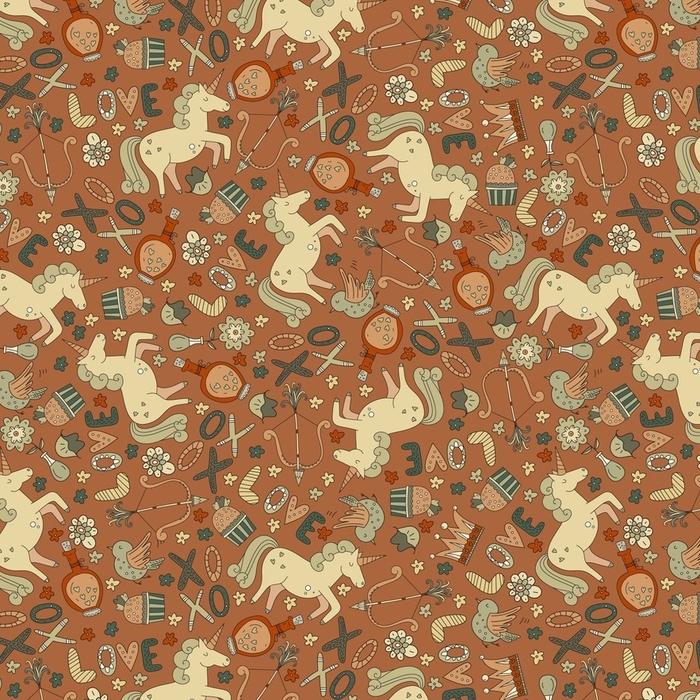 Afwasbaar behang, op maat gemaakt Romantisch patroon - Gevoelens, Emoties en Staten van Geest