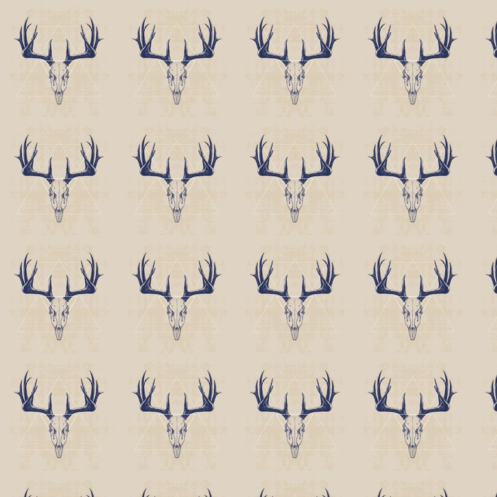 deer skull Washable custom-made wallpaper - Mammals