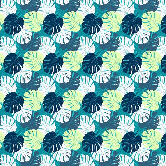 Problemfri mønster med palme blade. Personlige vaskbare tapet - Planter og Blomster