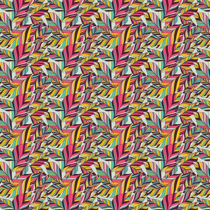Vector sin patrón con la mano multicolor dibujado decorativa le