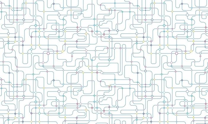 Papier peint lavable sur mesure Arrière-plan transparent de réseau - Ressources graphiques