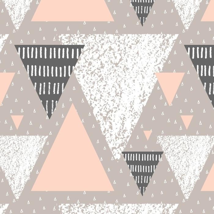 Afwasbaar behang, op maat gemaakt Abstract geometrisch patroon - Grafische Bronnen