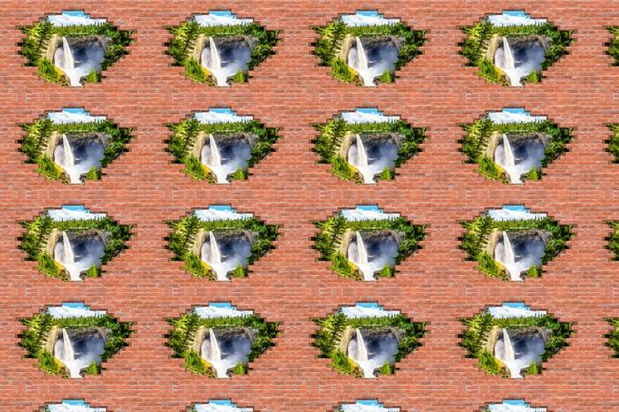 Tapeta na wymiar winylowa Dziura w murze - Góry. Kanada. - Dziury w ścianie
