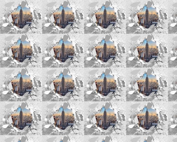 Vinyltapete nach Maß Loch in der Wand - in New York - Durchbruch in der Wand