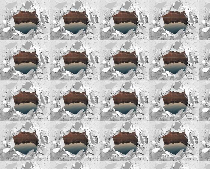 Papier peint vinyle sur mesure Trou dans le mur - île - Les trous dans le mur
