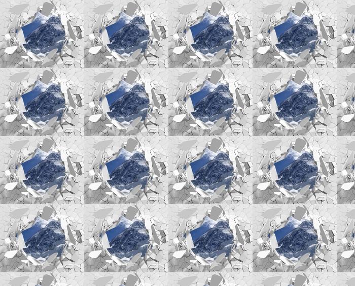 Tapeta na wymiar winylowa Dziura w ścianie - Mount Everest - Dziury w ścianie