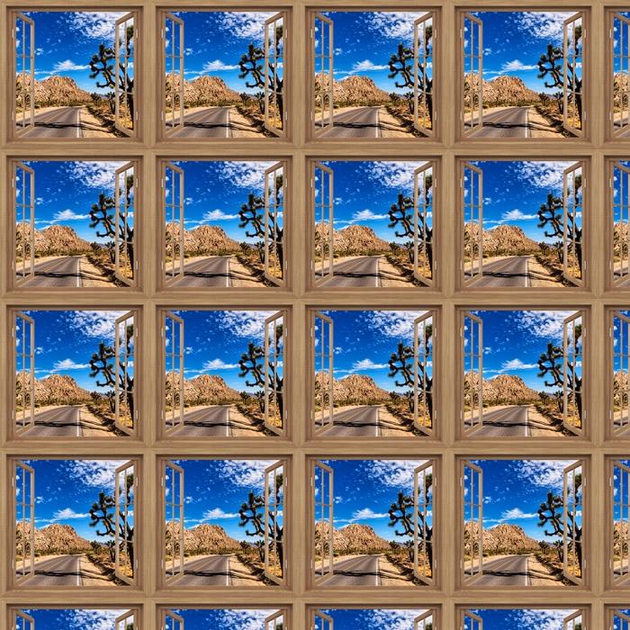 Vinyltapete nach Maß Brown öffnete das Fenster - Nationalpark in Kalifornien -