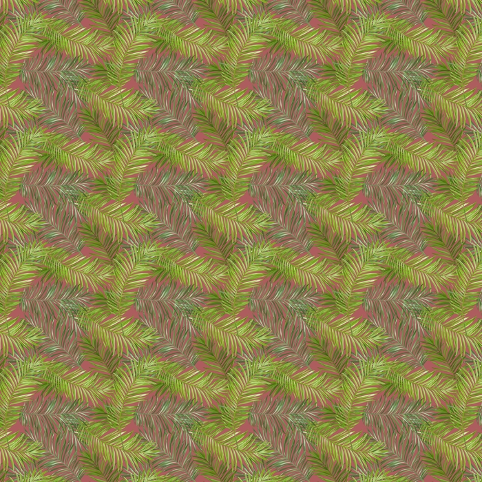 Måttanpassad vinyltapet Tropical Palm lämnar bakgrund -