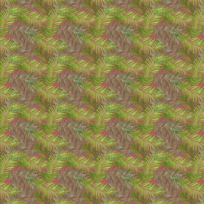 Tropical Palm Leaves Background Vinyl custom-made wallpaper - Pineapple Fever