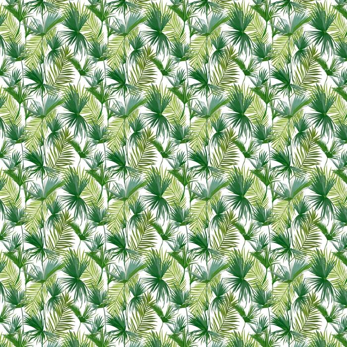 Tropiske palme blade Personlige selvklæbende tapet -