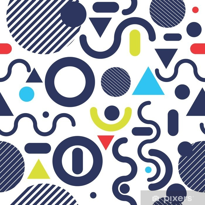 Papier peint vinyle Style de mode Memphis modèle moderne couleur de fond - Ressources graphiques