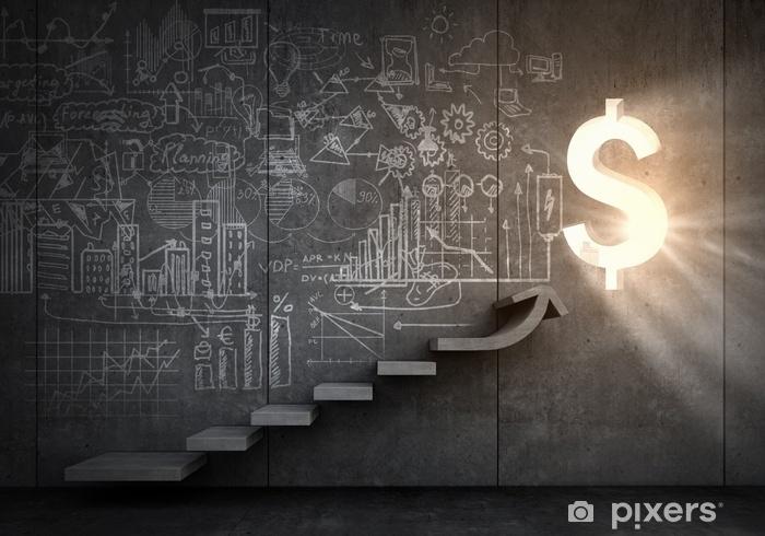 Great plan for financial growth Pixerstick Sticker - Business