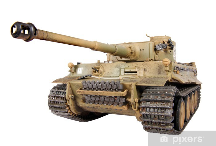 Model of tank Tiger isolated Pixerstick Sticker - Themes