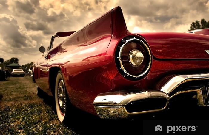 Vinil Duvar Resmi Sepya renk tonunda bir eski model araba shot kadar yakın -