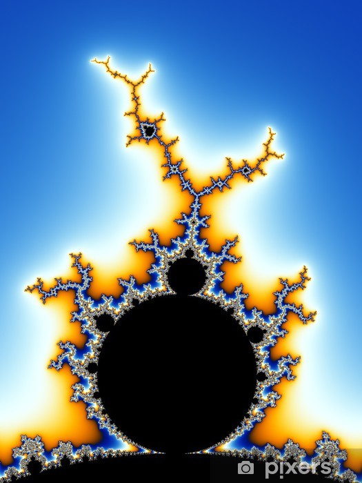 mandelbrot fractal Vinyl Wall Mural - Abstract