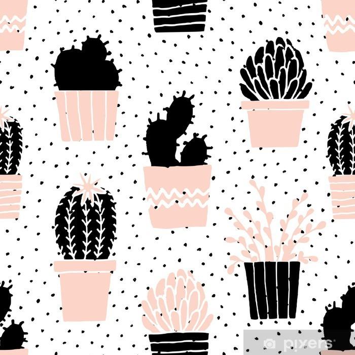 Vinilo para Mesa Lack Extraer las manos del patrón Cactus - Recursos gráficos