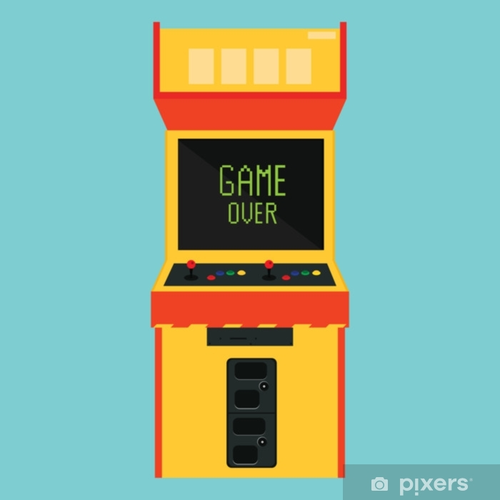 Retro arcade game Sticker - Pixerstick