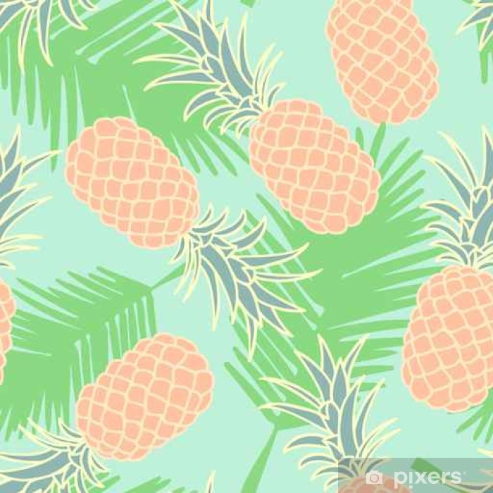 Sticker Pixerstick Abstract seamless ananas pattern__ - Ressources graphiques
