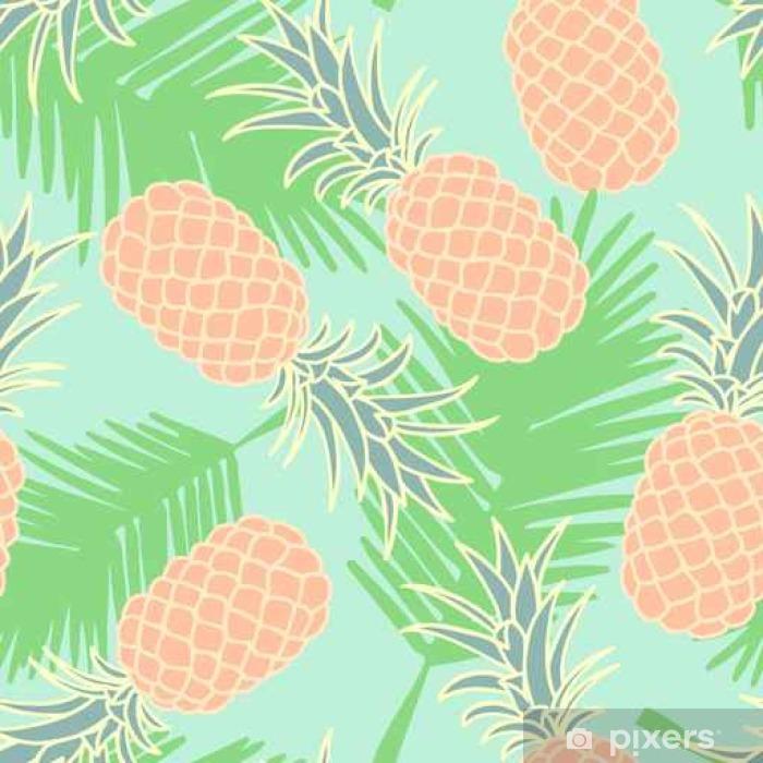 Pixerstick Sticker Abstracte naadloze ananas pattern__ - Grafische Bronnen