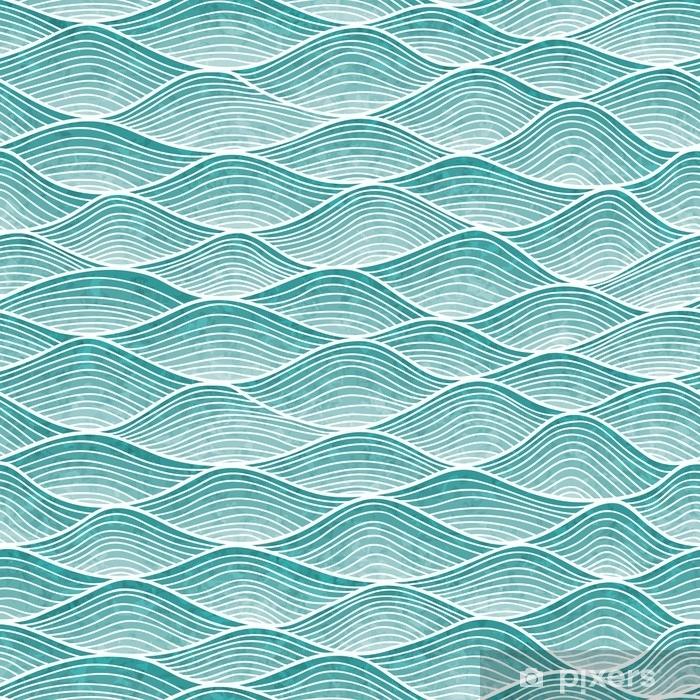 Plakat Falisty wzór. rysowane ręcznie abstrakcyjne tło z plątaniną linii. - Zasoby graficzne