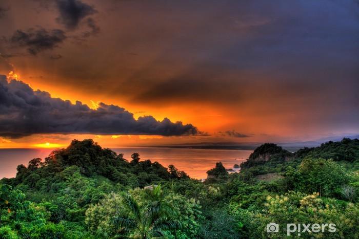 Vinyl Fotobehang Manuel Antonio, Costa Rica Sunset - Amerika
