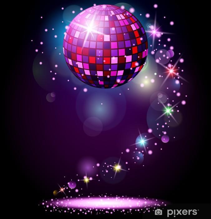 Fototapet Sparkling diskoboll. Nattfest • Pixers® - Vi lever för ... b9a1bb5607ca9
