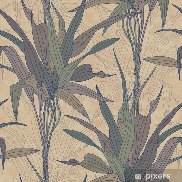 Vinyl-Fototapete Blätter auf einem alten Papierhintergrund -