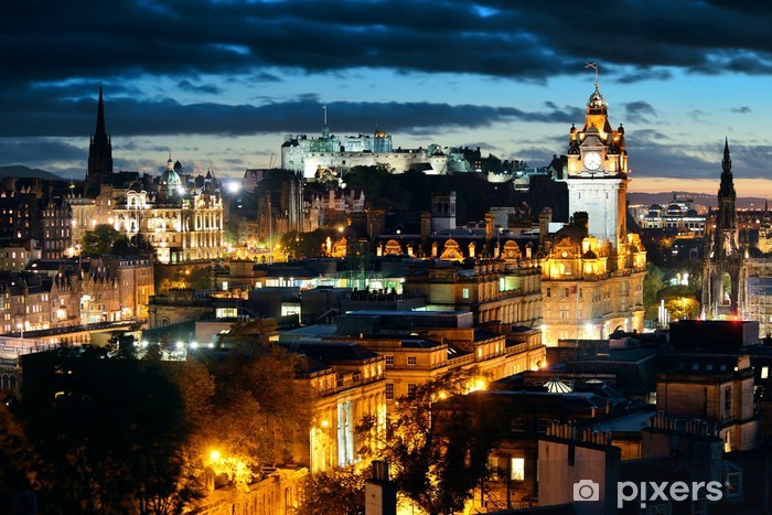 Fototapeta winylowa Edynburg noc - Tematy