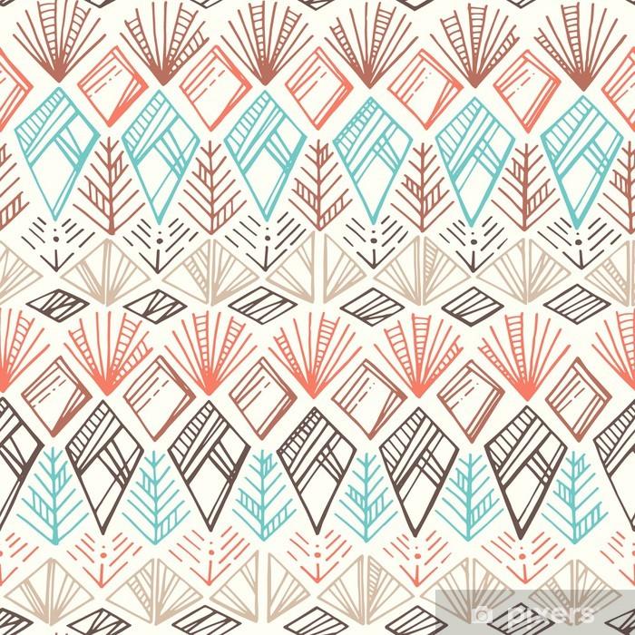 Seamless Ethnic Pattern Pixerstick Sticker - Textures