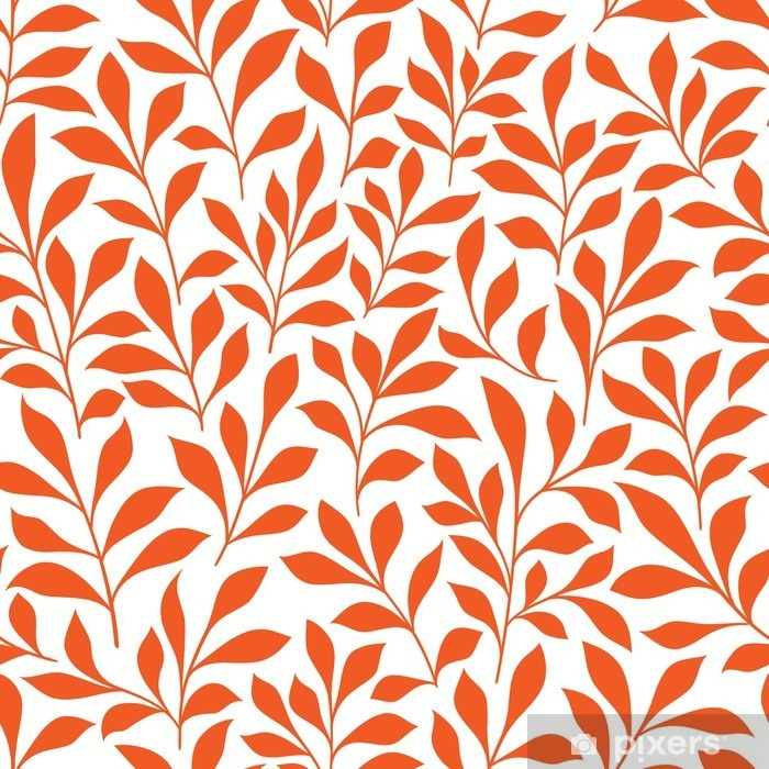Seamless orange wild herbs pattern Pixerstick Sticker - Graphic Resources