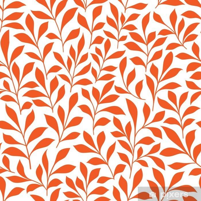 Saumaton oranssi luonnonvaraiset yrtit kuvio Pixerstick tarra - Graafiset Resurssit