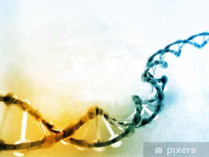 Digital illustration of dna Pixerstick Sticker - Science