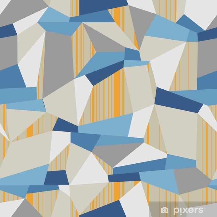Naklejka na szafę Geometryczne bezszwowe wektor wzór wielokąta - Zasoby graficzne